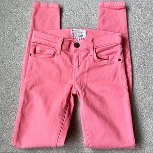 Current/Elliot Flamingo Pink skinny jeans